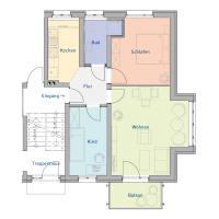 3-Raum-Wohnung, ca. 62 m²