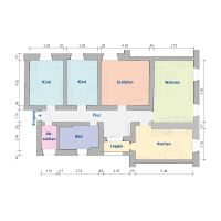 4-Raum-Wohnung, ca. 117 m²
