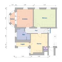 2-Raum-Wohnung, ca. 85 m²