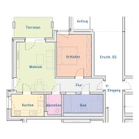 2-Raum-Wohnung mit Terasse, ca. 60 m²