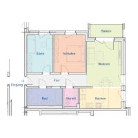 3-Raum-Wohnung mit Balkon, ca. 76 m²